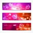 Vector banners with hearts. — Stock Vector #38791459