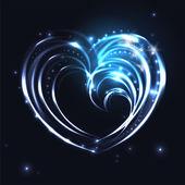 Glowing heart. — Stock Vector
