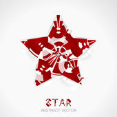 Abstract vector star. — Stock Vector