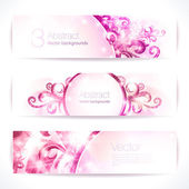 Pink abstract  banners. — Stock Vector