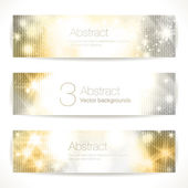 Gold abstract  banners. — Stock Vector