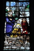 Stained Glass Window, Churh of LES ANDELYS (EURE) FRANCE — Stock Photo
