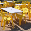 Chairs and tables without consumers — Stock Photo #13657576