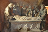 Entombment : Church of CHAOURCE (AUBE) — Stock Photo