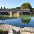 The park of Marly-le-Roi (YVELINES) : the trough — Stock Photo