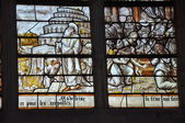 The church of Brienne-le-Château (Aube) : stained glass — Stock Photo