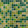 Small green mosaic tiles - Stock Photo