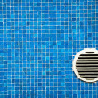 Colourful blue mosaic tiles - Stock Photo