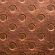 Scratched scoured copper surface - Stock Photo