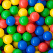 Colourful rainbow coloured balls — Stock Photo