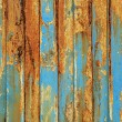 Grunge peeling wooden boards — Stock Photo
