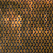 Stock Photo: Metal trellis with diamond pattern
