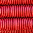 Rolled electrical conduit — Stock Photo