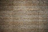 Panels of interwoven straw carpet — Stock Photo