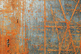 Scratched rusty metal texture — Stock Photo