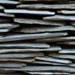 Wall made of interleaved stones Wall made of interleaved stones - Stock Photo