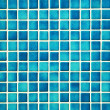 Stock Photo: Pretty cool turqouise mosaic wall