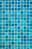 Pretty cool turqouise mosaic wall — Stock Photo