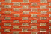 Brick wall with alternating pattern Brick wall with alternating pattern — Stock Photo