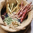 Stock Photo: Basket with dried legumes