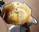 Freshly percolated coffee — Stock Photo