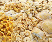 Handmade pasta varieties — Stock Photo