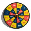 Target board with a bullseye — Foto Stock
