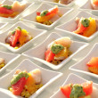 Stock Photo: Appetizers for banquet