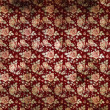 Retro burgundy wallpaper with flowers - Stock Photo