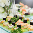 Stock Photo: Platter of gourmet sushi