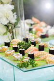 Platter of gourmet sushi — Stock Photo