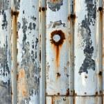 Peeling metal panel — Stock Photo