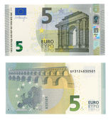 New 5 euro banknote — Stock Photo