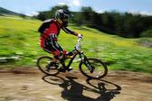 Crosscountry biker — Stock Photo
