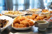 Buffet with various dishes — Stock Photo