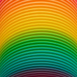 Stock Photo: Rainbow colours of plastic slinky toy