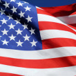 Waving flag of the United States of America — Stockfoto