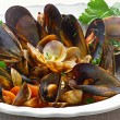 Stock Photo: Mussels and Clams
