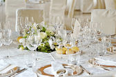 Wedding setting on a table — Stock Photo