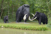 Prehistoric mammoths — Stock Photo