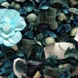 Background of blue potpourri — Stock Photo