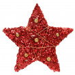 Red textured Christmas star — Stock Photo