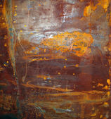 Rusty surface on corroded metal — Stock Photo