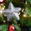 Spangled Christmas star — Stock Photo #36789651