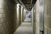 Long empty internal passageway — Stock Photo