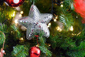 Spangled Christmas star — Stock Photo