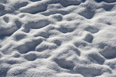 Undulating surface of fresh snow in winter — Stock Photo