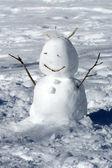 Pupazzo di neve inverno — Foto Stock