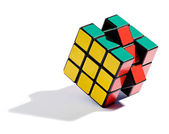 Solving the Rubiks cube puzzle — Stock Photo
