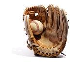 Old vintage leather baseball glove — Stock Photo